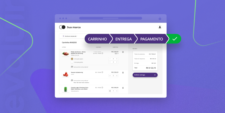 Novo checkout do Mercos Varejo